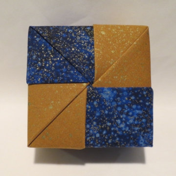 Square - Four Squares, Gold Speckled Blue