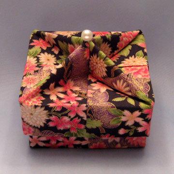 Square - Knob, Asian Floral