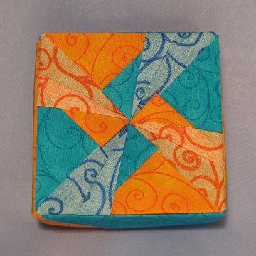 Square - Windmill 2, Blue and Orange Swirls