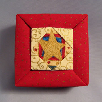 Square - Frame, Star on Dots Red