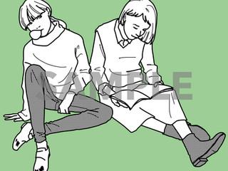 女の子たちと読書と秋