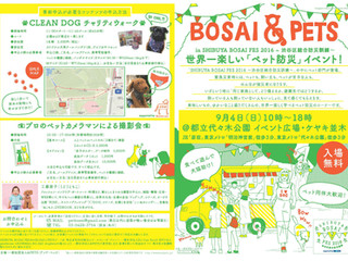 SHIBUYA BOSAI FES 2016 「BOSAI &PETS」