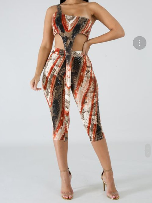 This sexy 2 piece juniors sequin tie dye capri aer