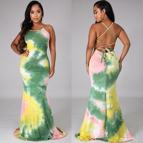Tiana tie dye dress