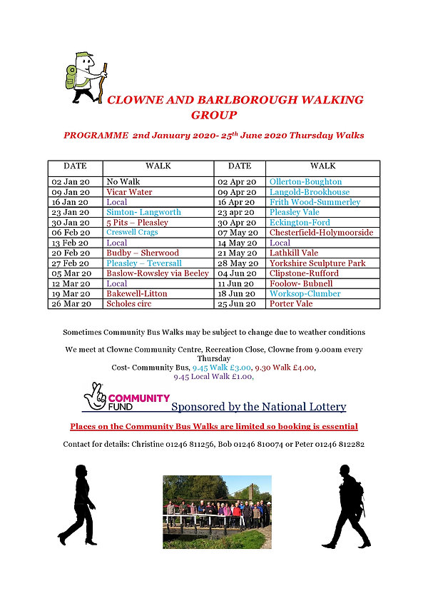 Walk programme 9th January 2020 25th Jun