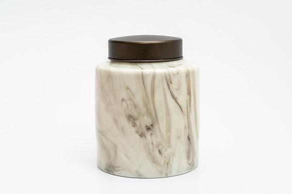 Ceramic Pet Urn (White Marble)