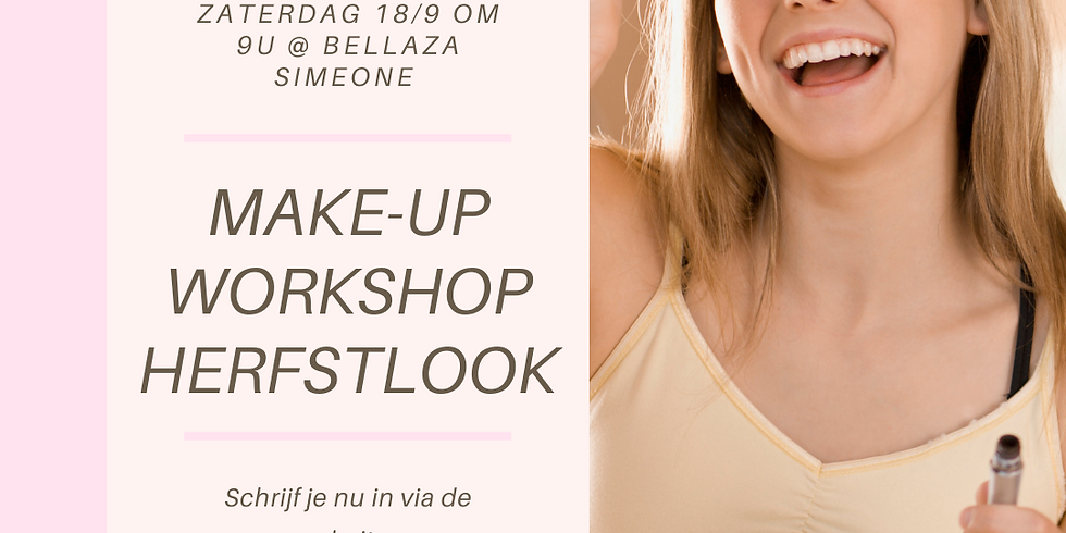 Workshop Herfstlook make-up Zaterdag 18/9 om 9u