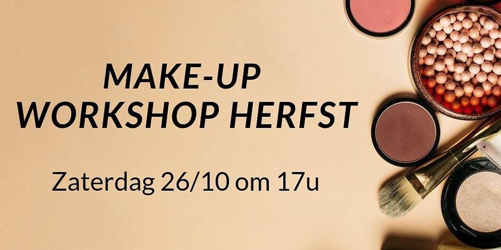 Make-up Workshop Herfst 26/10 om 17u