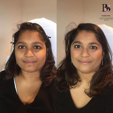 Voor en na make-up