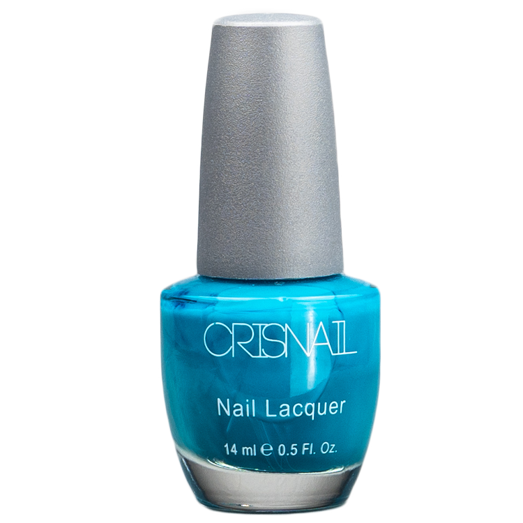 Turquoise blauwe nagellak