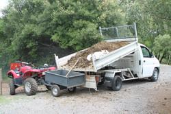Dépose du compost
