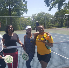 Ladies playing doubles