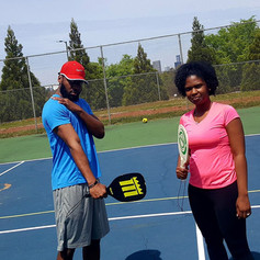 Brother and Sister play Pickleball