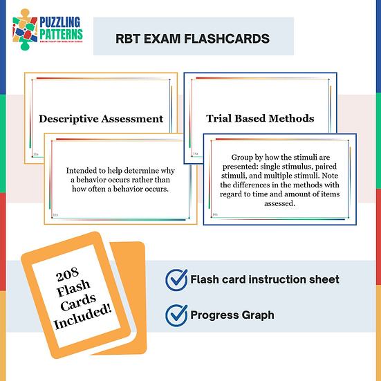 208 RBT Flash Cards and Progress Graph
