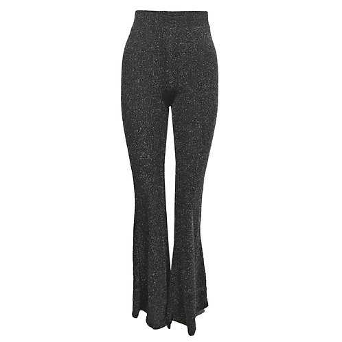 Flared pants glitter grey