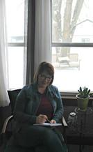 collett in her office.JPG