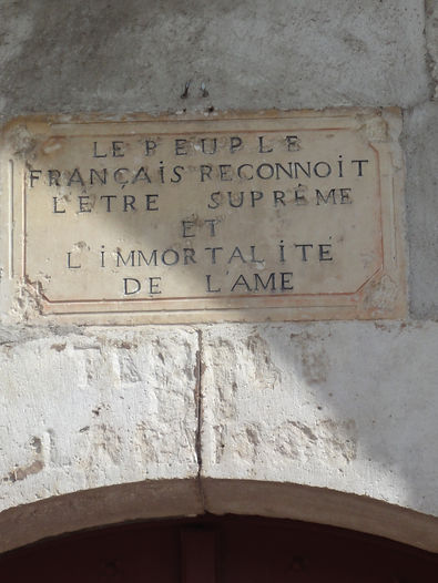 inscription fronton église