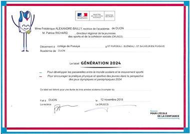 Label collège generation 2024