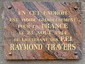 Plaque Raymond Travers1.jpg