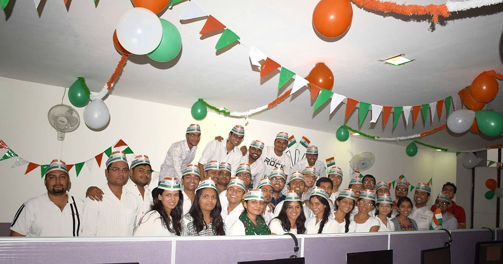 Team TatvaSoft at Ahmedabad Office on Republic Day celebration