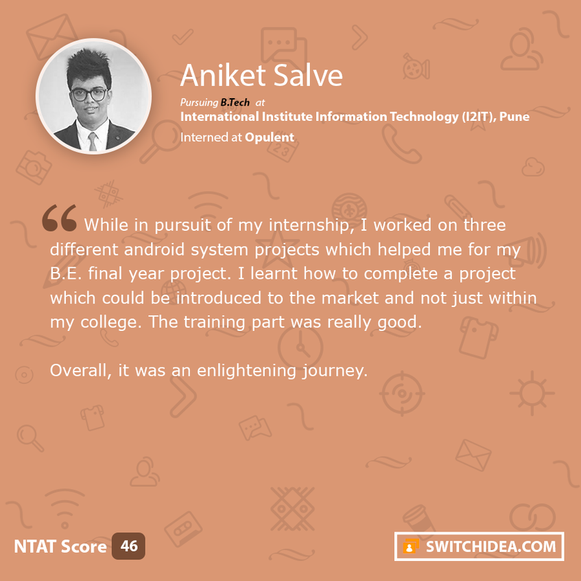 Testimonials shared by Students registered on Switch Idea