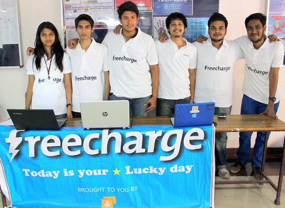 Second Year CS Engineering students during Freecharge Internship