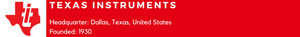 Texas Instruments (Analog and Digital Electronics)