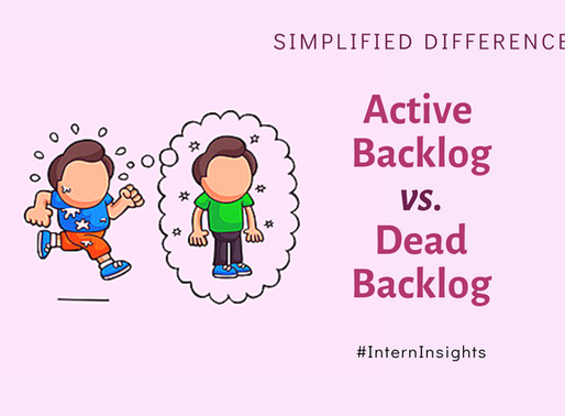 Difference between an Active Backlog and Dead Backlog