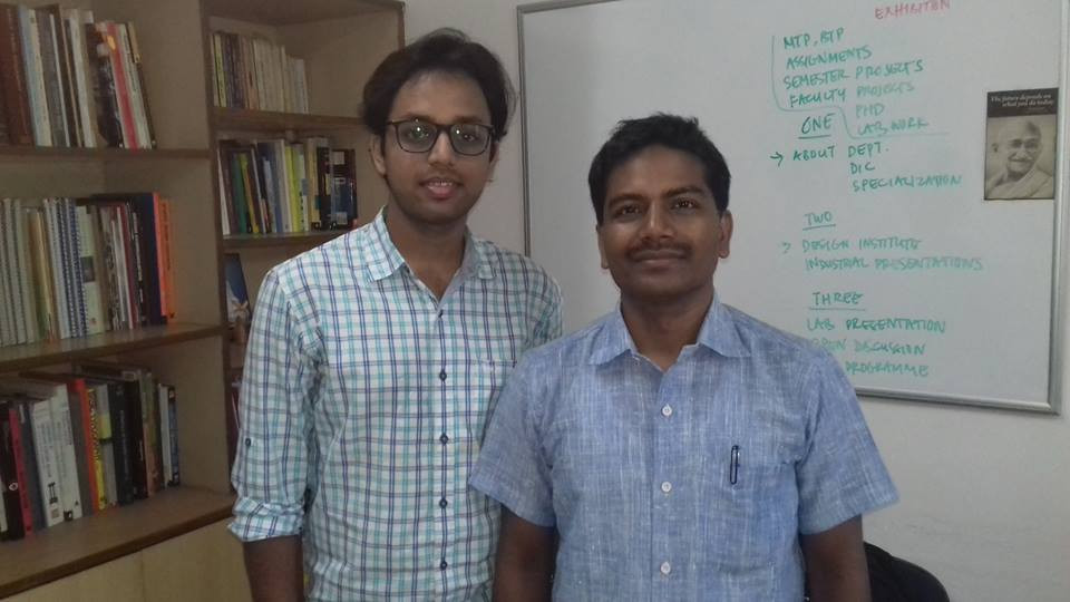 "Internship under Dr. D. Udaya Kumar (Designer of Indian Rupee Symbol "" ₹ "") at the Department of Design, IIT - Guwahati"