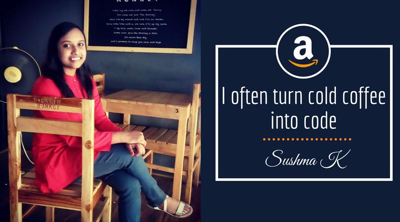 Sushma K, BVRIT student, Internship at Amazon