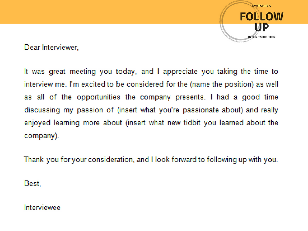 Follow Up Email Sample