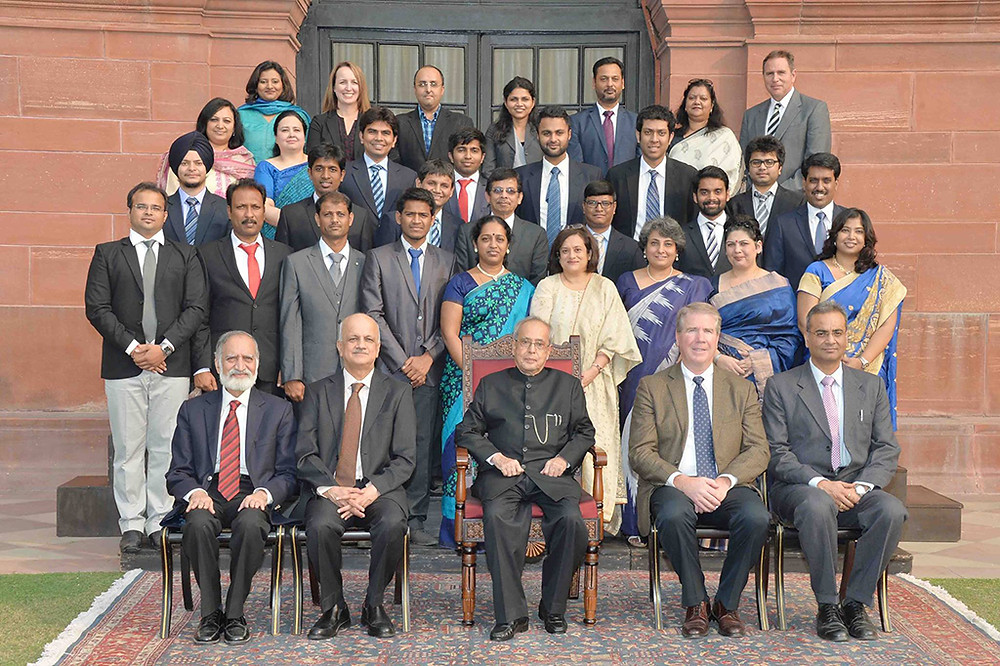 GeekSynergy Team with President of India