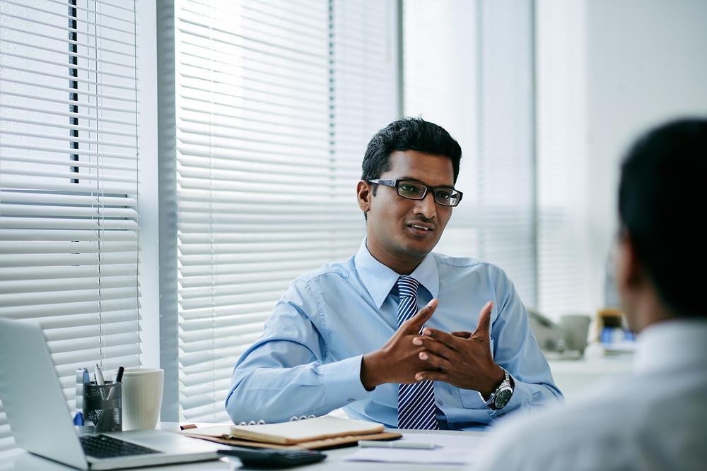 Face-to-Face Internship Interview