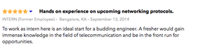 Bangalore Intern Feedback - Tata Teleservices Ltd.