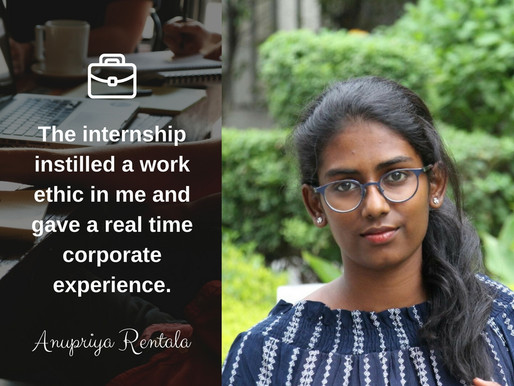 Intern Insights with Anupriya Rentala