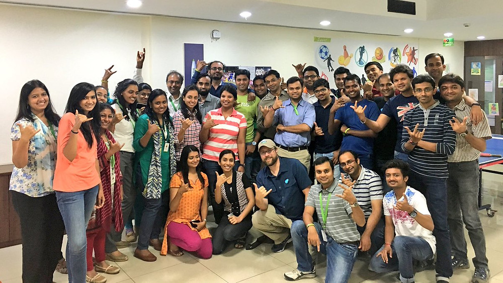 Photograph of the team at Apptus Ahmedabad Office