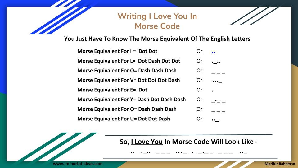 How To Write I Love You In Morse Code