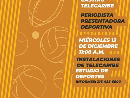 Telecaribe Deportes busca periodista – presentadora costeña