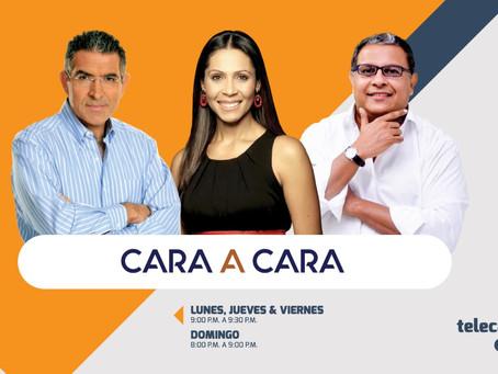 Érika Fontalvo, Jorge Cura y Óscar Montes en Cara a Cara
