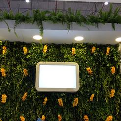 Jardim Vertical Com flor Artificial