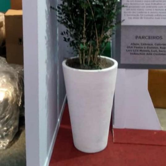 Murta 2.00m - Vaso Conico Branco