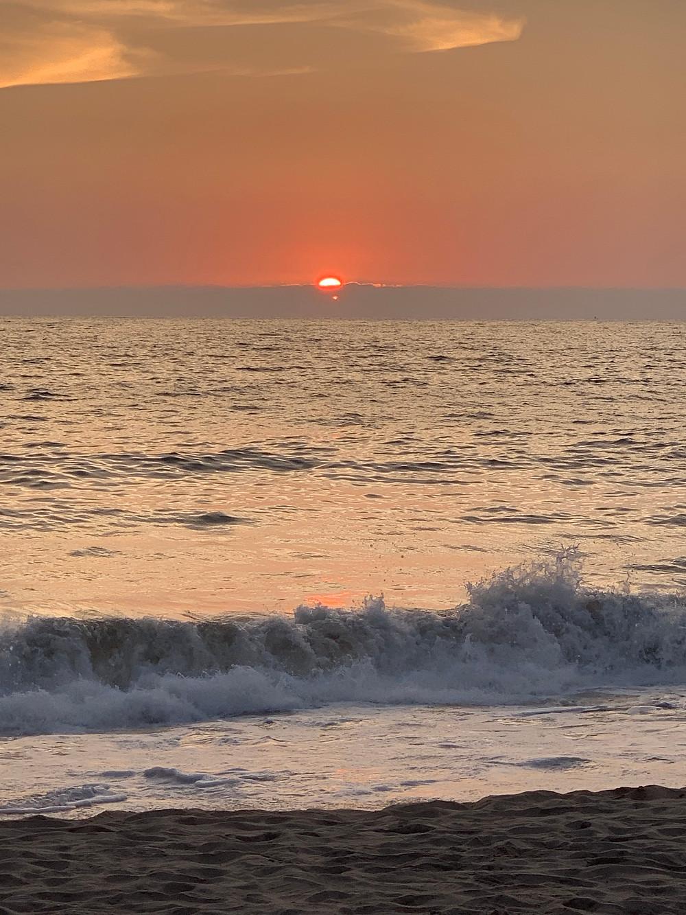 Pôr do sol na Playa de los Muertos.