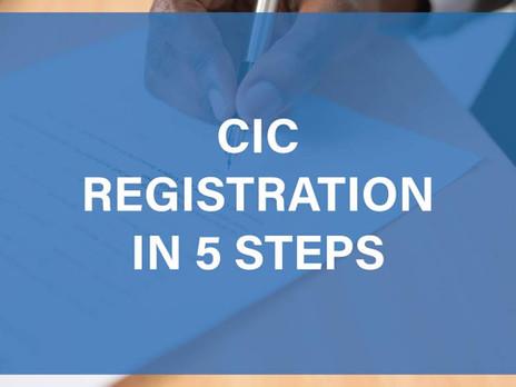 CIC Registration in 5 Steps