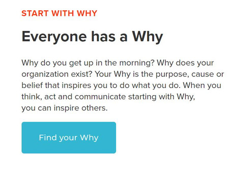 Start with why!