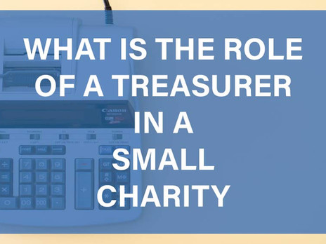 What is the Role of a Treasurer in a Small Charity?