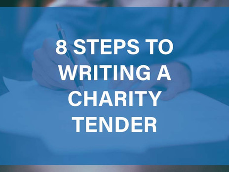 8 Steps to Writing a Charity Tender