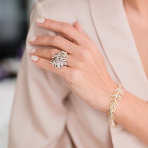 "Ring ""Rosemarine"" // silver 925"