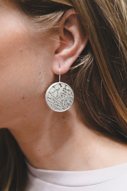 Еarrings with big pegmatite // silver 925
