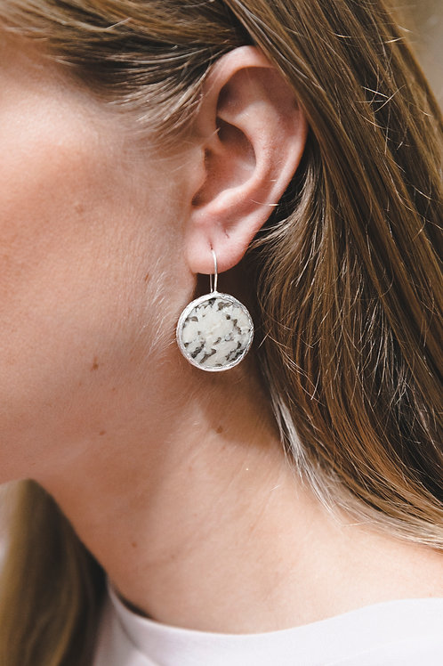 Еarrings with pegmatite // silver 925