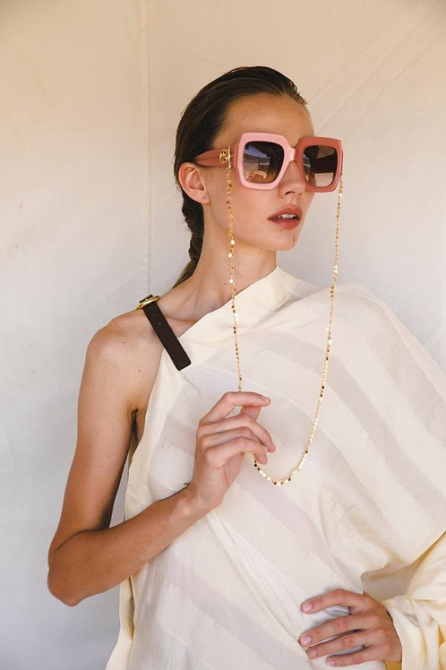 Eyeglass chain with coins / / gold-plated
